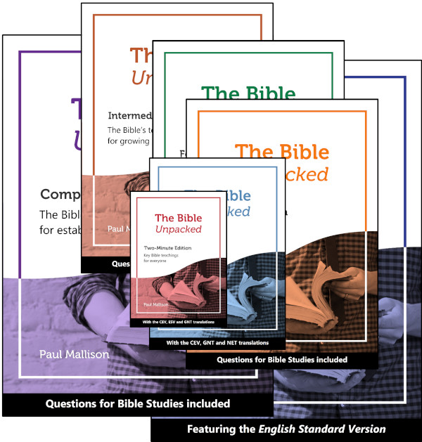Image of the 7 editions of The Bible Unpacked